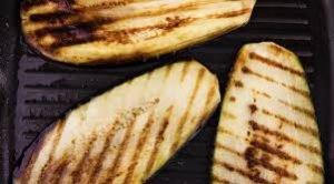 grilled melanzana, great on the bbq