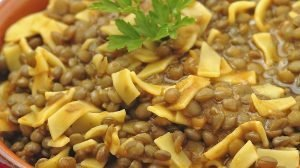 pasta and lentils for a rainy day
