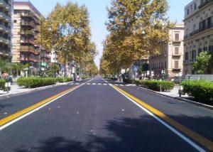 Viale della Libertà empty during the day in summer