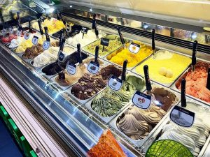 a wide variety of ice cream in the many parlors in Palermo. A true delight in summer.