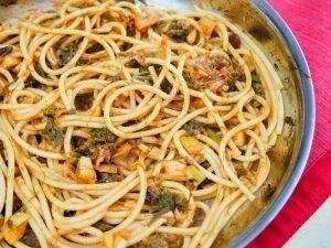 pasta with sardines, a Sicilian classic dish