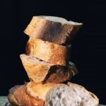 fresh cut bread