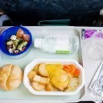 lunch on a long haul flight